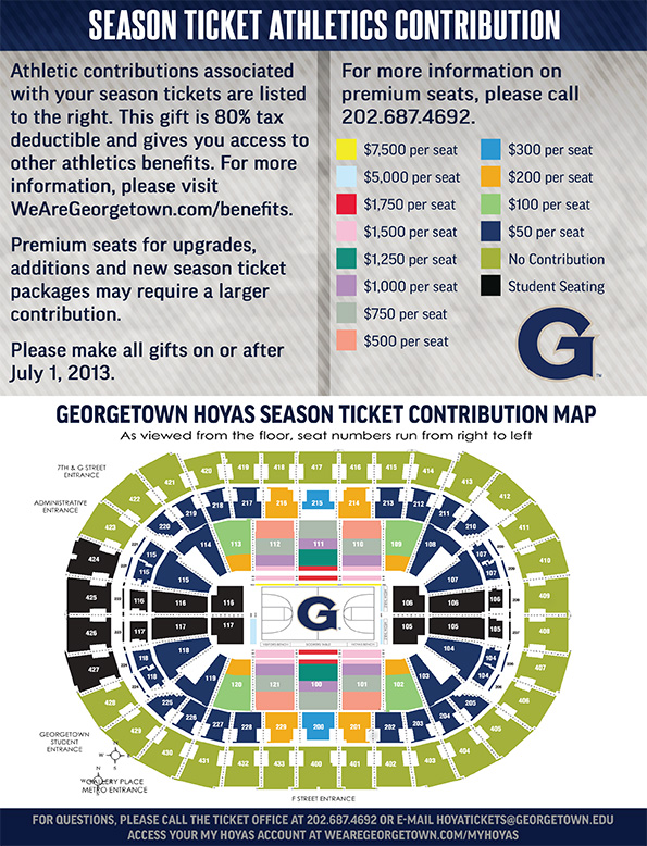 2013-14 Season Ticket Athletics Contribution Chart