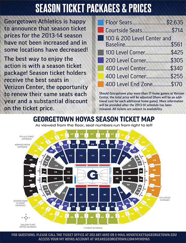 2013-14 Season Ticket Packages & Prices